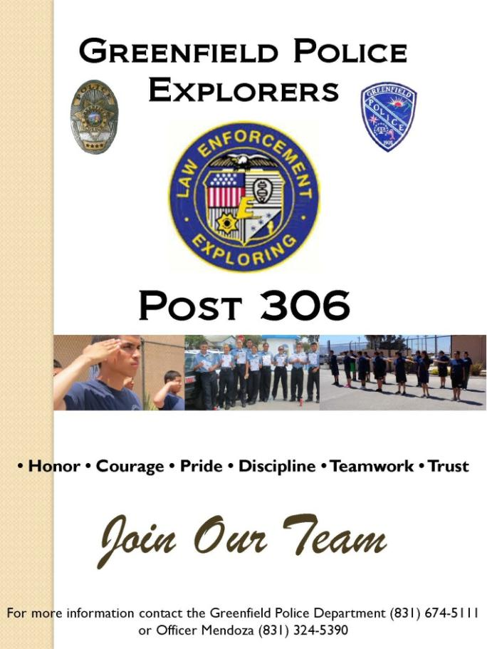 The flyer for the Explorers Program.